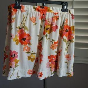 Blue Asphalt Floral Skirt